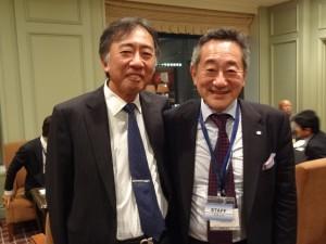 写真右:日先研 簗瀬 武史会長